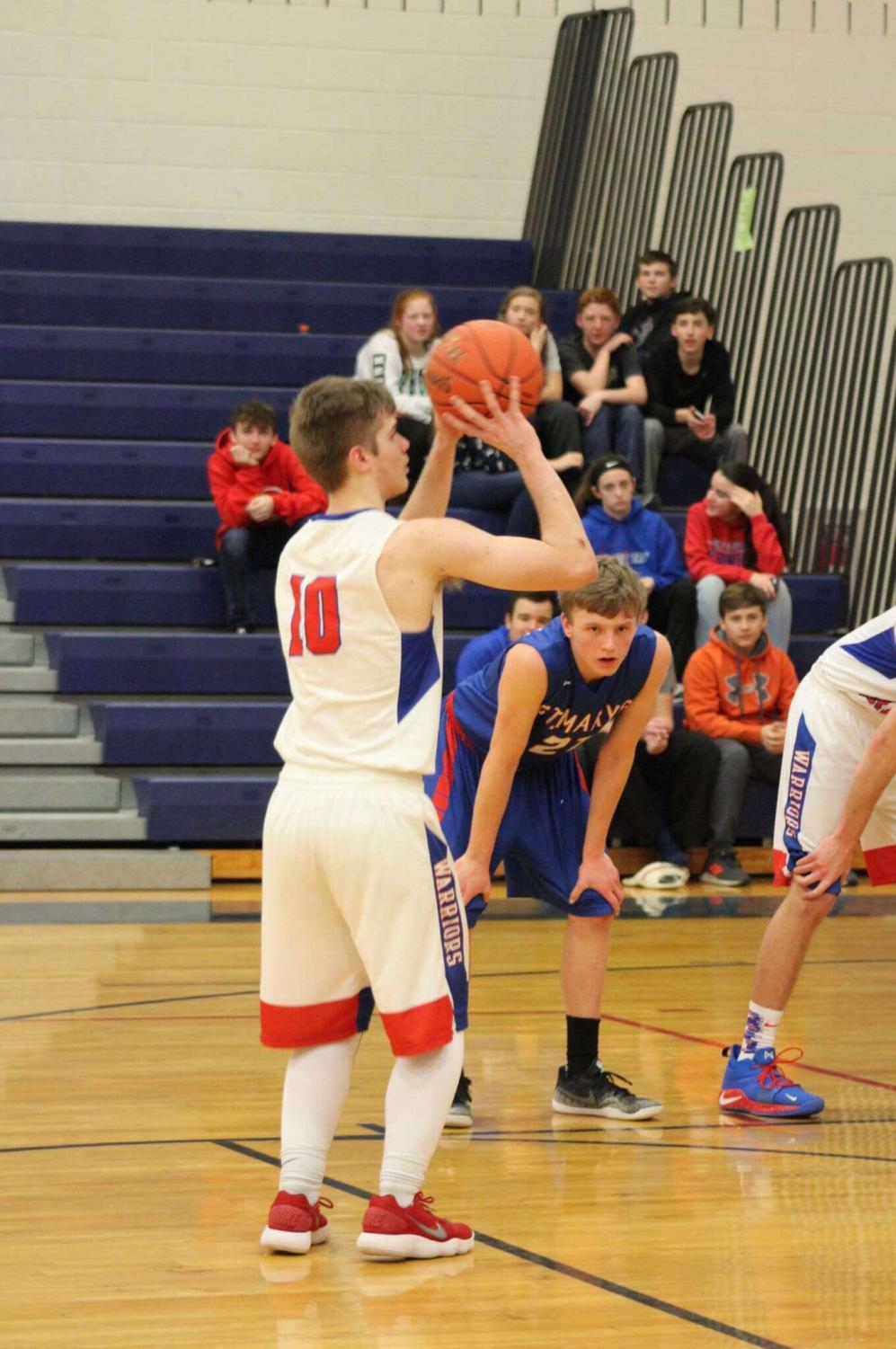 John Arnold shoots a free-throw against St. Mary's.