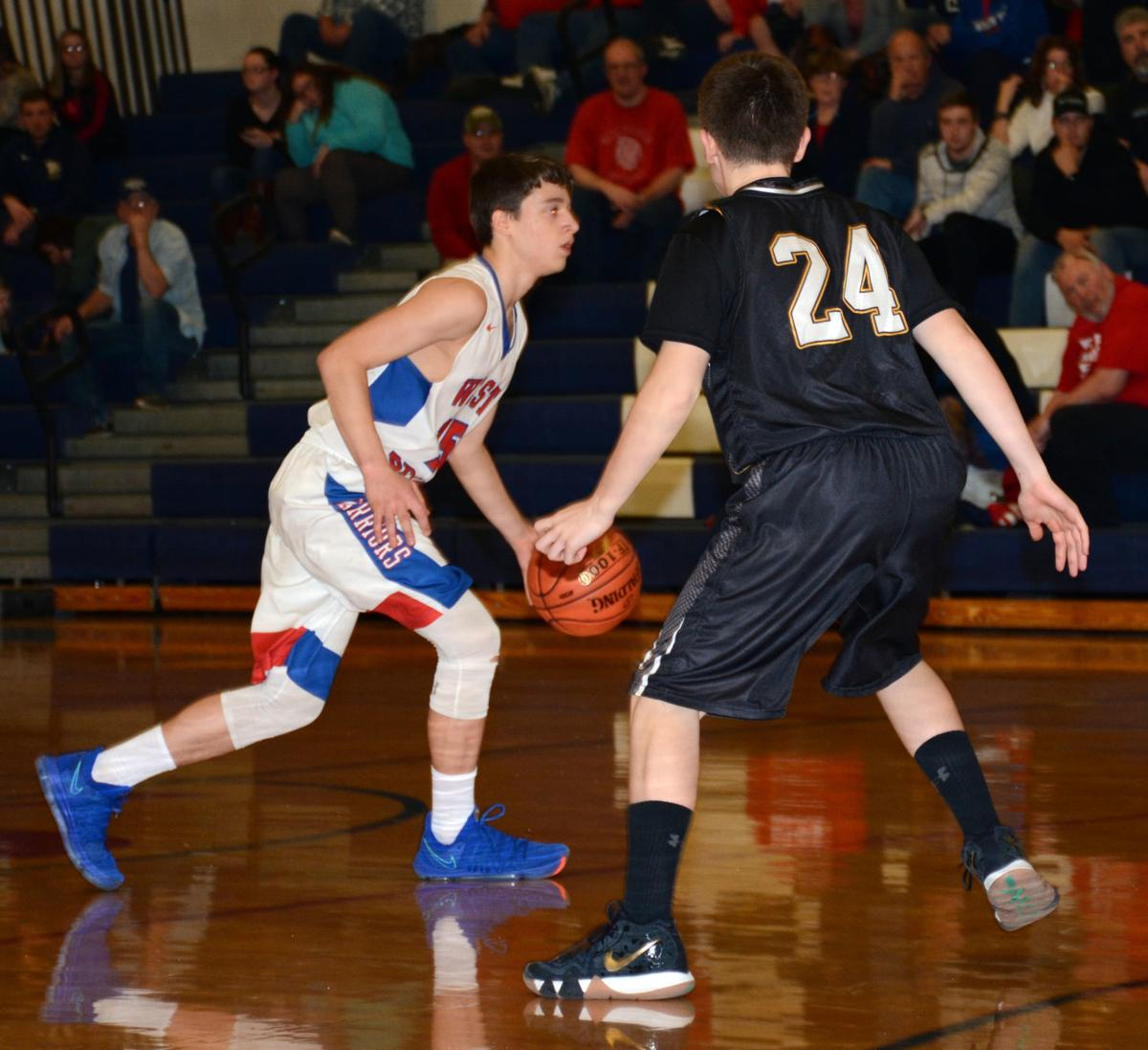 Sophomore Trenton Bellomy scored 18 points against the Black Knights