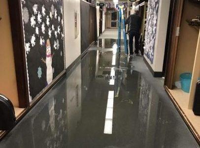Water Pipes Break in Elementary