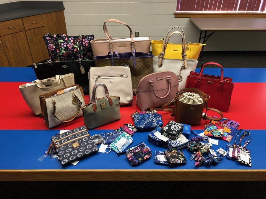 Display+of+bags+generously+donated+by+the+community.
