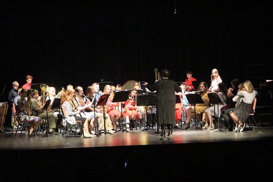 Senior/Junior High Band concert, Photo Courtesy of Michael Narehood