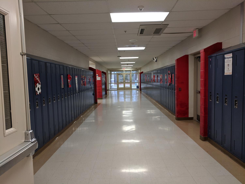 The WB Senior Hallway, where most of the Senioritis occurs.