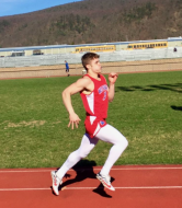 Will Herring runs the 400-meter during one of the track meets.