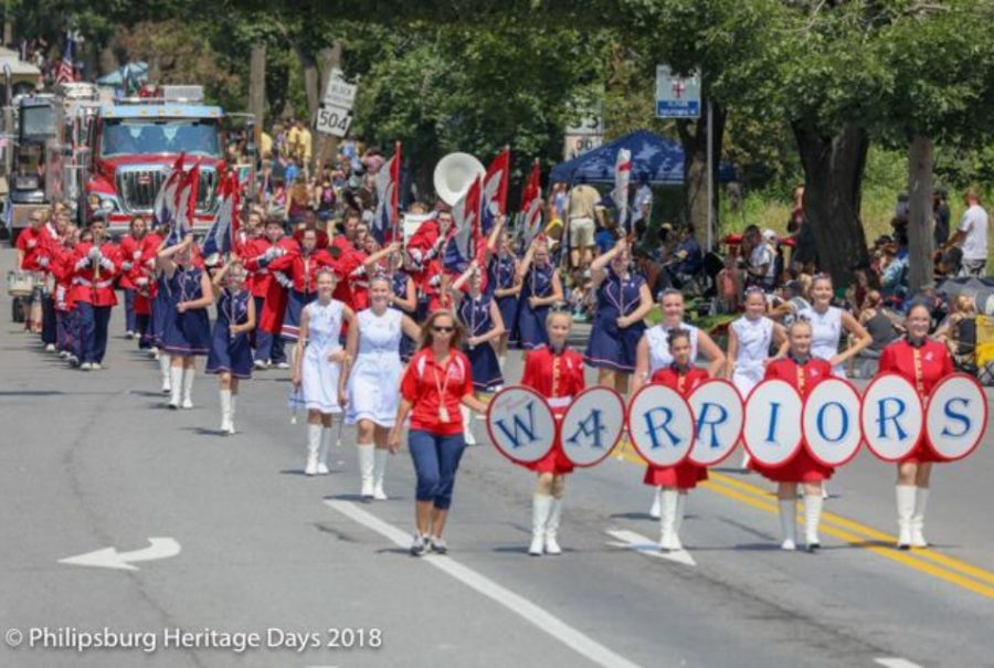 2018-2019+WB+Warrior+Marching+Band+Marching+through+Philipsburg+Heritage+Days+Parade