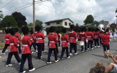 Warrior Band marching at Osceola's 4th of July parade.