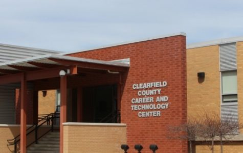 The front entrance of the Clearfield County Career and Technology Center.