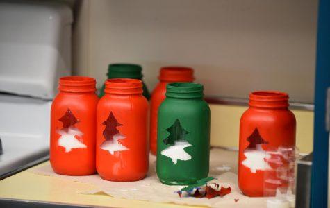 Cute little Christmas tree jars.
