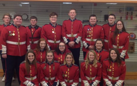 Senior High County Band representatives for West Branch.