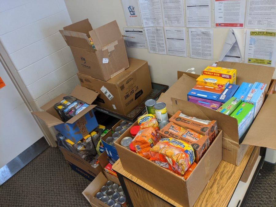 Food bank donations.