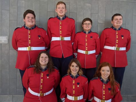 District Band Representatives from left to right (Top Row) Noah Fry, Dalton Kristofits, Isaiah Lutz, Elijah Williams Bottom Row left to right Vesta Brickley, Olivia Blasko, Ashley Folmar