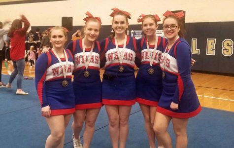 Lady Warriors Place First in Cheer Competition