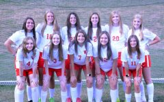 The 11 returning letterwinners from the Lady Warrior Soccer team