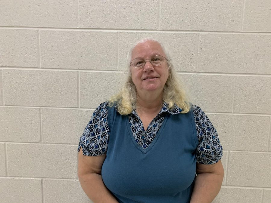 A photo of Mrs. Leathers after aiding in Mrs. Swisher's classroom.