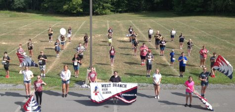 The Mighty Warrior Marching Band on day 5 of bamp camp