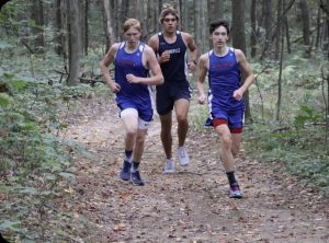 Sage Carr running his way to his personal best time against Brookville