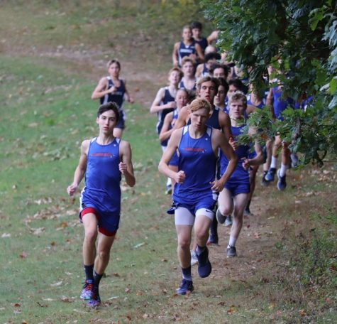 West Branch takes the lead on the first portion of the course.
