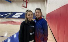 The two West Branch Girls Basketball seniors: Sarah Betts and Ella Miller.