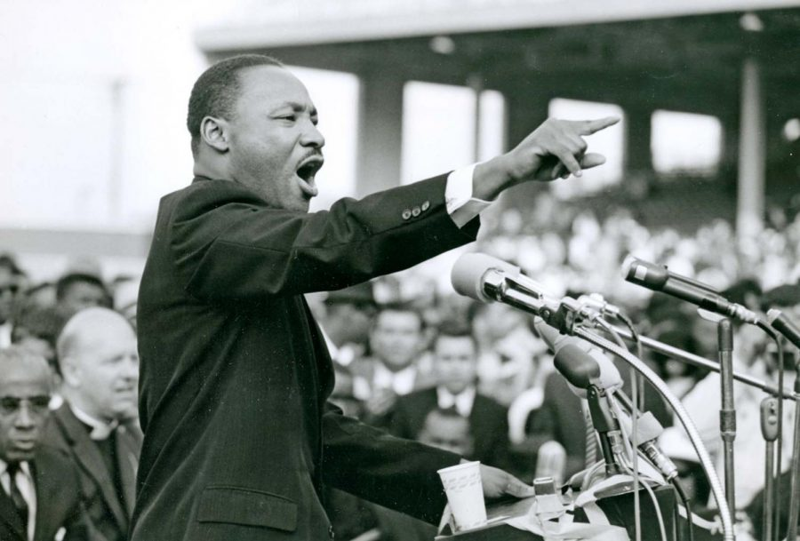 Martin Luther King Jr. giving his I Have a Dream speech