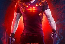 Vin Diesel as Bloodshot with his nanotechnology in the movie.