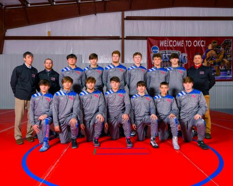 2020-21 West Branch Wrestlers (Top row, left to right) Coach Williamson, Coach Sudik, Ethan Yingling, Aaron Myers, Billy Bumbarger, Parker Johnson, Tyce Cantolina, John Myers, Coach Bainey (Bottom row left to right) Hunter Schnarrs, Kaleb Sallurday, William Herring, Hayes Jones, Landen Pase, Landon Bainey, Logan Folmar
