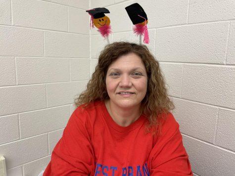 Mrs. Brickley is preparing the seniors for next week's graduation on June 4th.