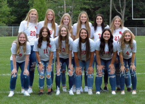 The 2021 Lady Warrior Varsity Soccer Team at the start of the season.