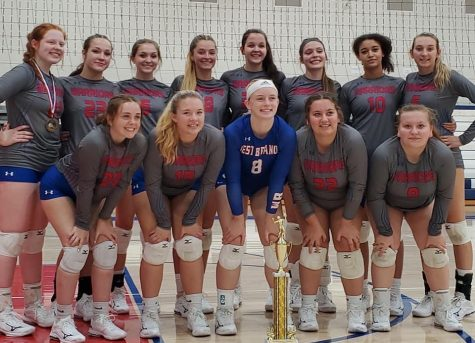 The Lady Warriors after their championship win in the Warrior Blast tournament after going undefeated all day.