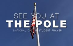"""This flag is where the """"See You At The Pole"""" will be held."""