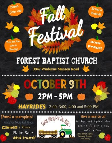 Information and schedules for the Forest Baptist Church's Fall Festival